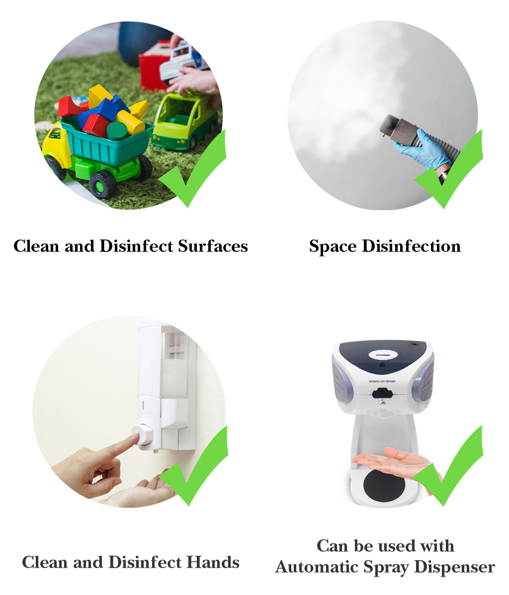 SmellGREEN Disinfectant Application