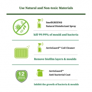 Air Conditioner Cleaning & Sanitizing- Non-toxic Material