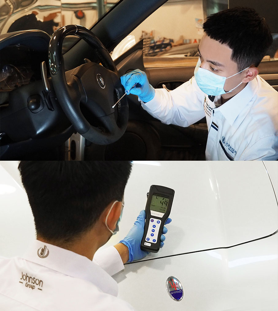 Johnson Group Car Cleaning- Detection of Microorganisms and Bacteria Level
