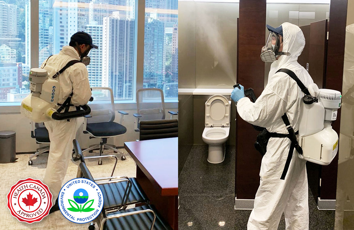 Hospital Grade Space Disinfection office and toilet